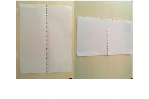 paper with fold marks