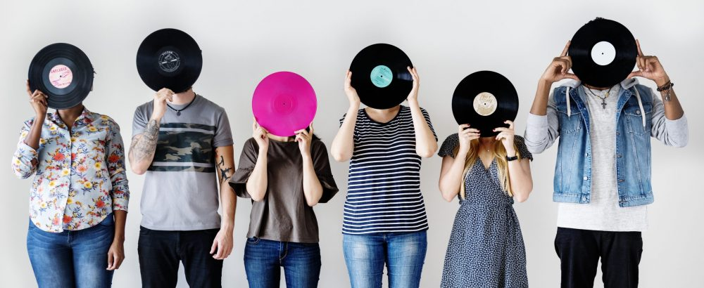People holding records