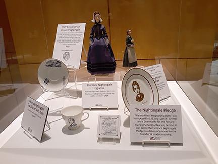 Figurines and ceramics celebrating Florence Nightingals