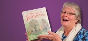 Joyce with storybook