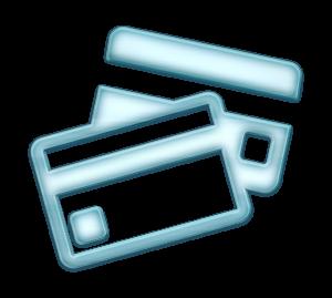 pale blue credit cards