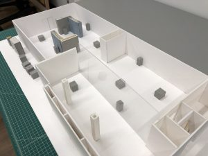 scale model of the gallery