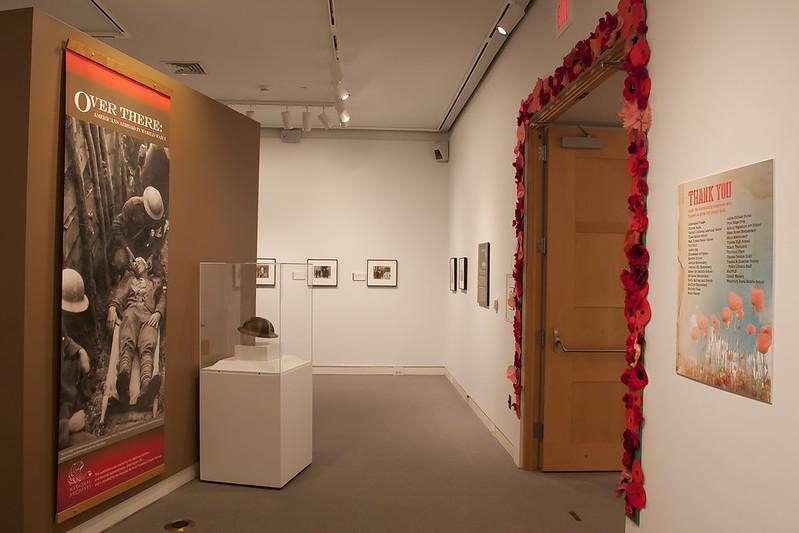 main gallery view of poppies around doorway
