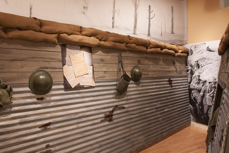 model of a WWI trench