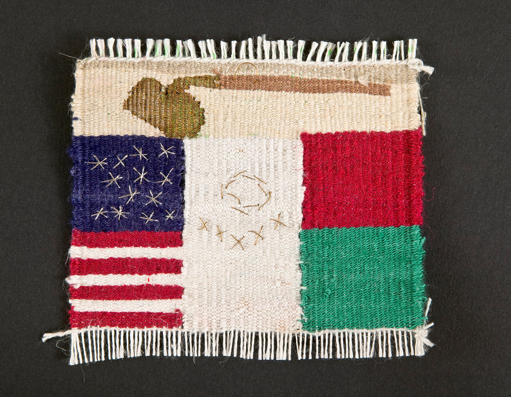 American and Mexican fusion flag