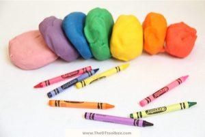 Crayon Playdough recipe