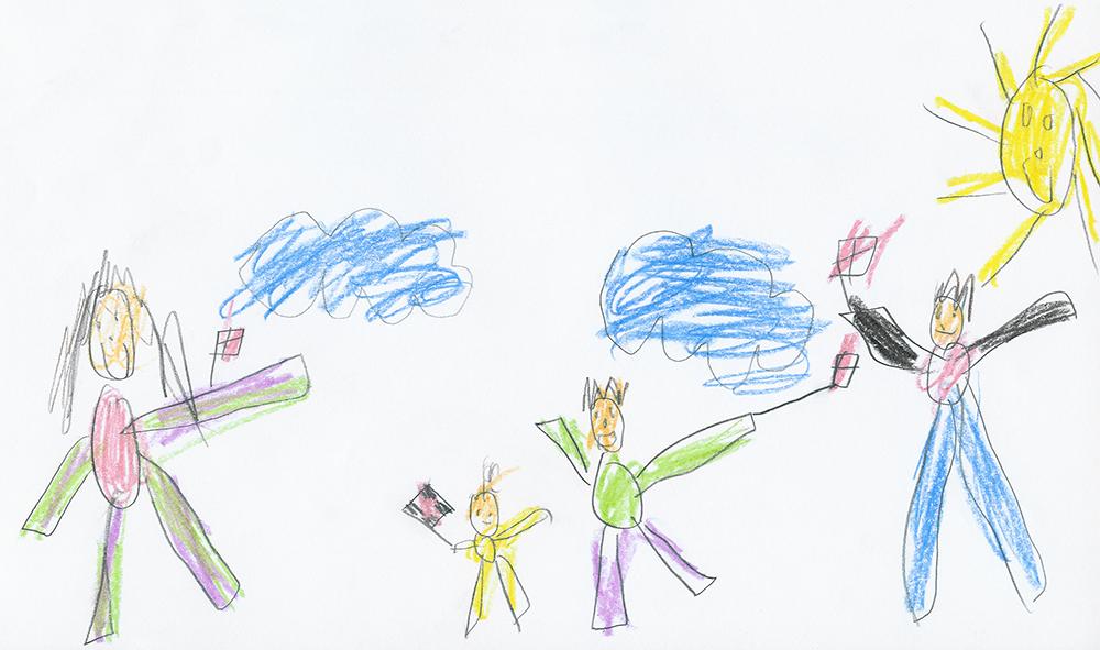 little kids drawing