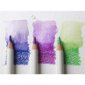 blue purple and green watercolor pencils