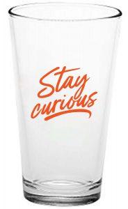 orange pint glass