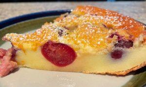 Cherry clafouti slice